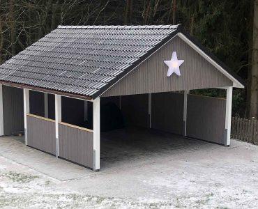 Carport mit Sternchen
